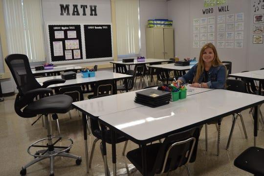 Mathematics teacher Ellen McDermott won a classroom makeover totaling $5,000.