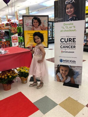 Six year-old Vania Kumar of Belle Meadwas made celebrity for a day as part of a fundraising campaign for Memorial Sloan Kettering Department of Pediatrics ( MSK) Kids at Stop & Shop in Franklin Park. Diagnosed with Acute Lymphoblastic Leukemia in 2017, Vania serves as a New Jersey Cancer Ambassador to MSK Kids.
