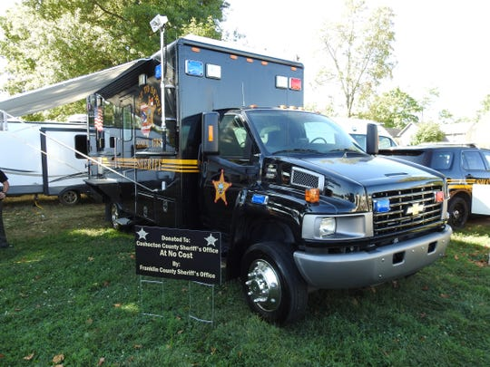 A new mobile command center for the Coshocton County Sheriff's Office was on display for the public last fall at the Coshocton County Fair. The vehicle was a gift from the Franklin County Sheriff's Office, which upgraded its mobile command center. It only has 3,000 miles. It features radio connections, video cameras, white boards to write on and other amenities.