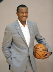 Detroit Pistons head coach Dwane Casey poses during media day Monday, September 30, 2019 at the Pistons practice facility in Auburn Hills, Mich.