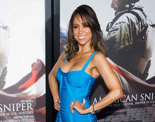 "Stacey Dash attends the ""American Sniper"" premiere in New York on Dec. 15, 2014."
