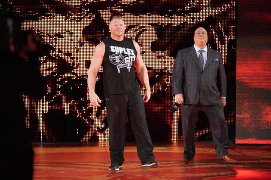 "Brock Lesnar, joined by his advocate, Paul Heyman, will challenge for the WWE Heavyweight Championship during the debut of ""Smackdown"" on Fox Friday night."
