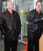 Danny Trull, left, and UAW President Gary Jones attended a union event in 2012 when Jones headed a UAW region based in Missouri. Trull served as Jones' top deputy.