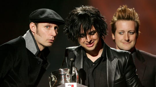 "Green Day attends the VH1 Big In '05 Awards in this December 3, 2005, file photo. The NHL is announcing a two-year partnership with Green Day that includes an opening song for NBC Sports' ""Wednesday Night Hockey."""