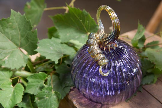 """This year's signature pumpkin at the Glass Academy's Pumpkin Harvest Show and Sale is """"American Jewel."""""""