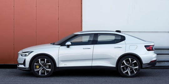 The Polestar 2 will initially cost $63,000, but brand owners Geely and Volvo plan to eventually produce models for about $45,000 in a bid to challenge Tesla's Model 3.