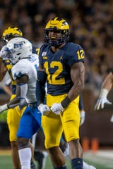 Michigan linebacker Josh Ross is doubtful for Saturday's game against Iowa, head coach Jim Harbaugh said. Ross is dealing with a high-ankle sprain.