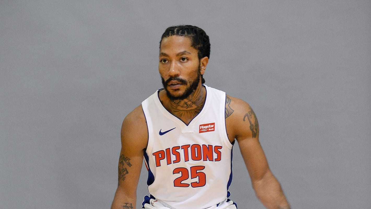 Derrick Rose demonstrates in scrimmage why he'll be vital cog for Pistons