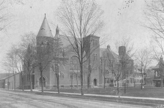 The First Baptist Church of Elmira, built in the 1890's, which is now vacant.