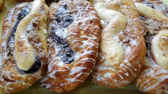 Hand-made danishes at the Pioneer Bakery in Boonville.