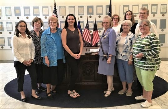 Officers for the local Champer of the National Society United States Daughters of 1812 held a recent installation at the Hayes Presidential Library and Museums.