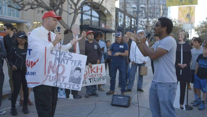 """Protesters argue about president Donald Trump in new documentary """"Trumphobia: What both sides fear."""""""