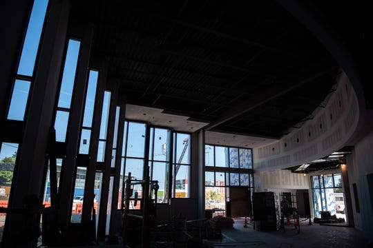 The lobby area of the new South Carolina Children's Theatre's (SCCT) Theatre Arts and Education Center for Children on Augusta Road which should be completed before the end of the year.