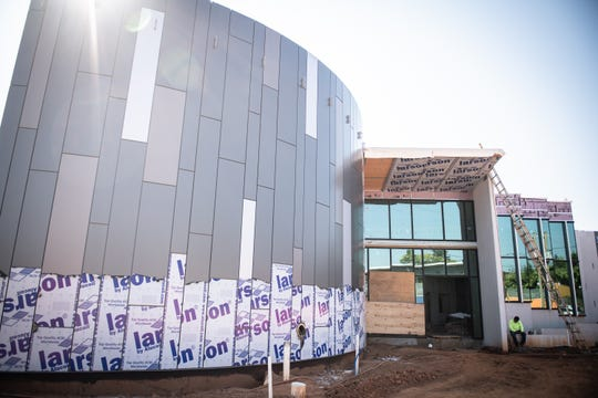 The exterior of the new South Carolina Children's Theatre's (SCCT) Theatre Arts and Education Center for Children on Augusta Road which should be completed before the end of the year.