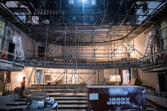 The main stage of the new South Carolina Children's Theatre's (SCCT) Theatre Arts and Education Center for Children on Augusta Road which should be completed before the end of the year.