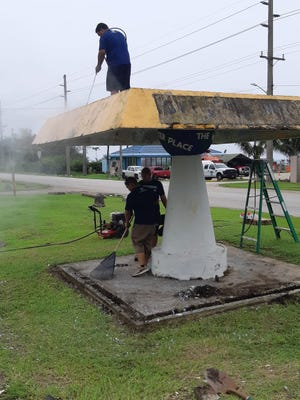 Ford employees in Guam participated in Bus Stop clean ups and marine themed drawings on key bus stops in the village of Agat as part of the Micronesian Conservation Coalition's Village Ripple Effect.