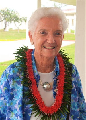 Marjorie Driver at the 40th anniversary of the Micronesian Area Research Center in 2007. (Photo courtesy of University of Guam)