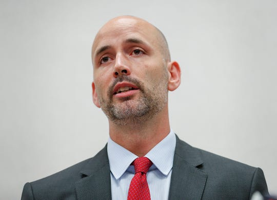 """Acting Marion County Prosecutor Ryan Mears announced marijuana possession offenses will no longer be prosecuted in Marion County during a press conference on Monday, Sept., 30, 2019. """"If it is less than one ounce of marijuana, we are not going to file that charge,"""" Mears said. """"And that's effective today."""""""
