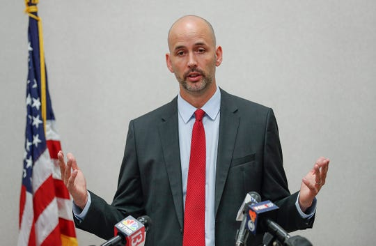 "Acting Marion County Prosecutor Ryan Mears announced marijuana possession offenses will no longer be prosecuted in Marion County during a press conference on Monday, Sept., 30, 2019. ""If it is less than one ounce of marijuana, we are not going to file that charge,"" Mears said. ""And that's effective today."""