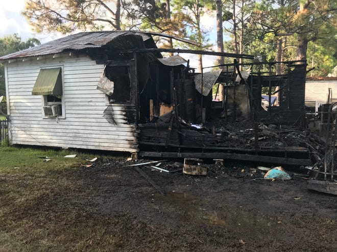 A Duson home destroyed by a fire on Sept. 29, 2019.