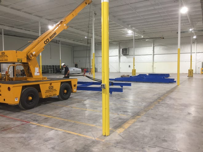 Global Retool Group America is preparing to begin its first assembly line rebuild at the company's new, larger facility on Kensington Road in Green Oak Township, shown Monday, Sept. 30, 2019.