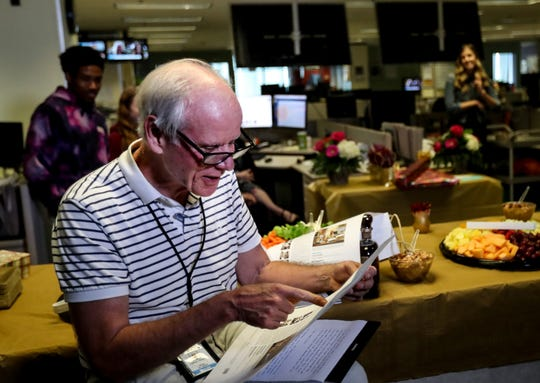 The Courier Journal news staff says goodbye to veteran reporter Tom Loftus on his last day on Sept. 30, 2019