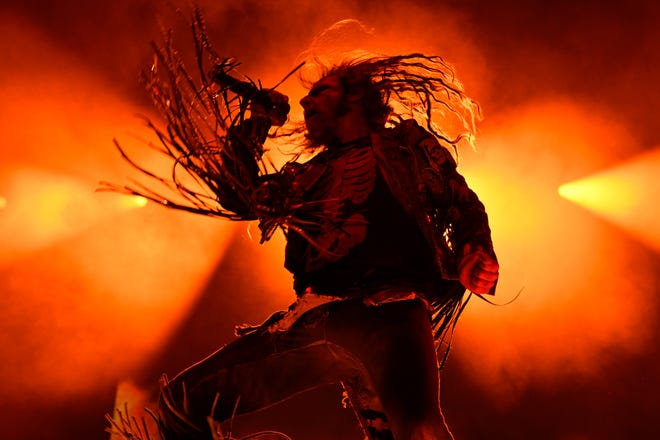 Rob Zombie at Louder Than Life festival on Sept. 29, 2019.