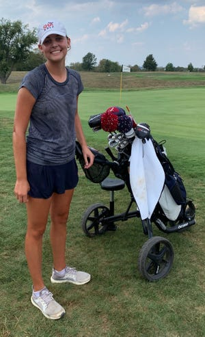 Sacred Heart senior Julia Hagewood won the individual title at Monday's Region Six golf championships at Weissinger Hills Golf Course in Shelbyville.