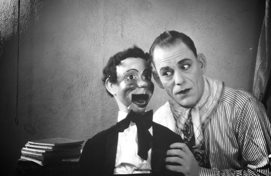 "The ""Man of a Thousand Faces,"" Lon Chaney is a criminal ventriloquist (who later disguises himself as a kindly old woman for nefarious purposes) in ""The Unholy Three,"" which screens Thursday at Crosstown accompanied by live music."