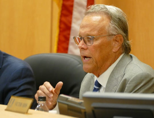 "Marco Island city councilor Larry Honig said at the Oct. 25 council meeting that Madeira's actions are ""a stab in the face."" Above, Honig speaks at a city council meeting on Sept. 26."