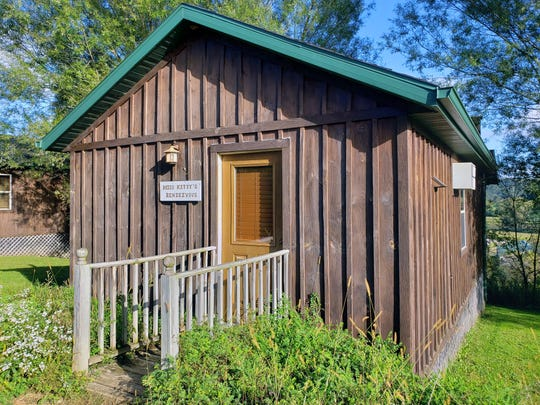 Miss Kitty's Rendezvous is one of eight cabins available for rent at Kickapoo Valley Ranch near La Farge.