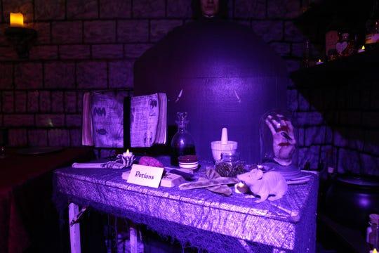 Dody Marriott built various Harry Potter-themed displays for show in her Hartland garage. Marriott in 2016 began offering tours of the garage on and around Halloween.