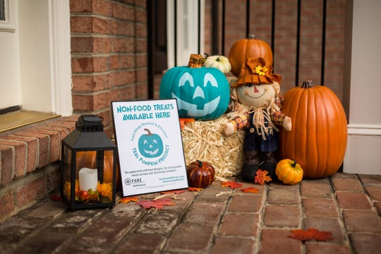Families can put teal pumpkins and signs on their porch to indicate they have treats that are safe for kids with food allergies.