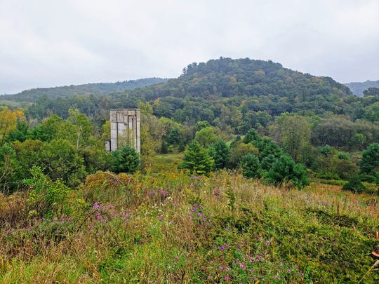 A dam control tower is visible at the end of the Dam Trail in the Kickapoo Valley Reserve near La Farge on Sept. 29, 2019.