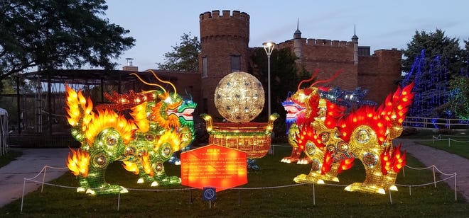 These lanterns at the Racine Zoo are part of the lantern festival that will be there through the end of the year.