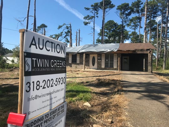 This house and others in Ruston's University Hills subdivision that were heavily damaged by the Sept. 25, 2019 tornado, will soon be put up for auction.