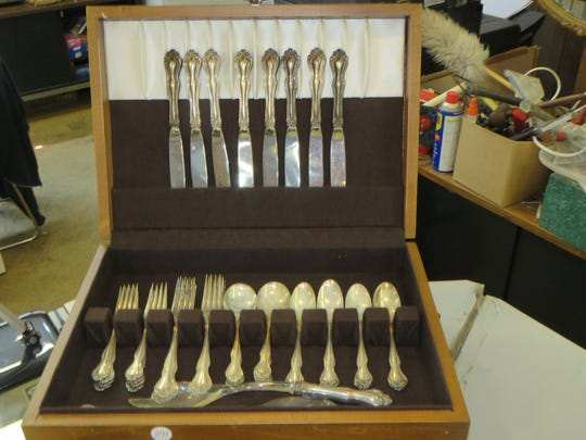 A 40 Piece Westmoreland 'George & Martha' Sterling Flatware Service for 8 w/salad set sold at Berman's July auction for $425.