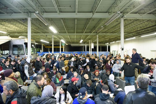 Aj Willner Auctions holds a live-auction on behalf of the U.S. Postal Inspector's Office at a warehouse in Riverdale, New Jersey.