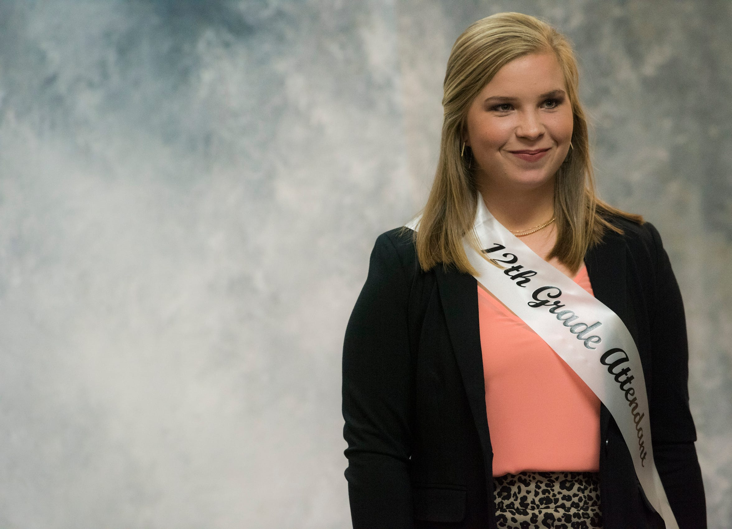 Emma Wendland poses for a picture as part of the homecoming court at Autauga Academy in Prattville, Ala., on Friday, Sept. 27, 2019. Autauga Academy defeated Tuscaloosa Academy 40-16.