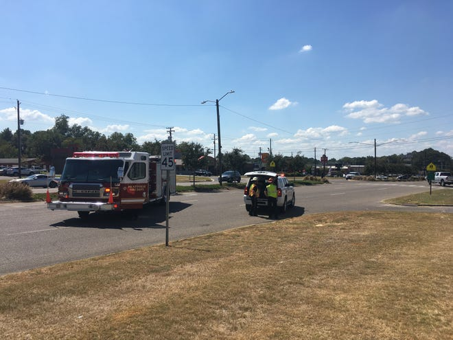 Prattville first responders on the scene of a natural gas leak near the East Main Street and South Memorial Drive intersection.
