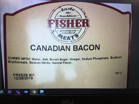 Packaging associated with a voluntary recall of meat from Fisher Meats.