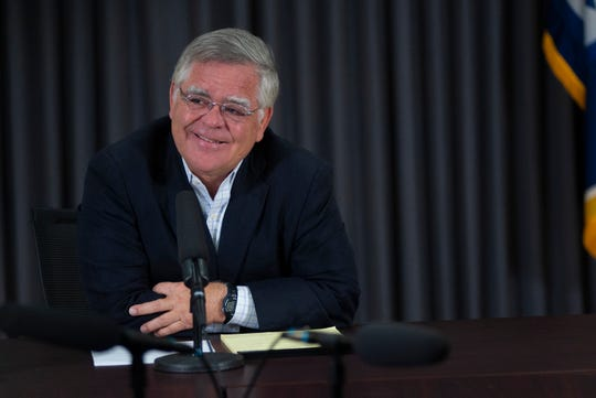 Mayor John Cooper smiles while being asked a question during his first media availability as Nashville's mayor on Sept. 30, 2019 at City Hall.