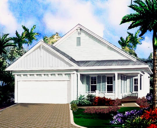 Construction began in September of a 20-home development at 101 Palm Drive, Naples. This is a rendering of the Coquina model.