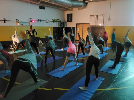Healthy lifestyles and exercise were another component explored during the first 'Warrior-Wellness Day' at Watkins Memorial High School.