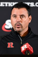 Rutgers University football interim head coach Nunzio Campanile holds a press conference in the wake of former head coach Chris Ash being fired on Monday, Sept. 30, 2019, in Piscataway.