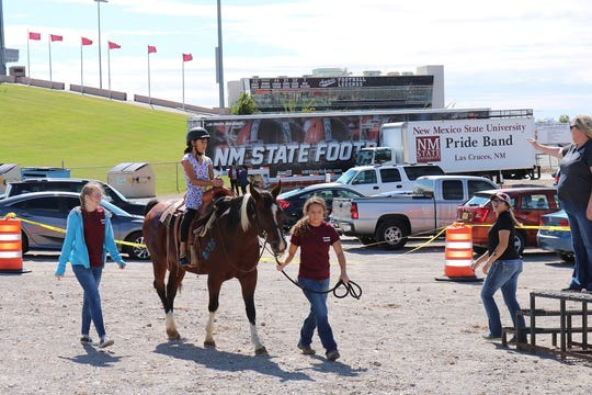 NMSU Therapeutic Riding Program horses will be hond prior to the Aggies kickoff on Saturday at Aggies Memorial Stadium.
