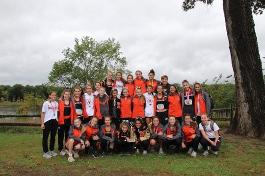 The Northville girls cross country team finished in second place at the Coaching Legends Invite.