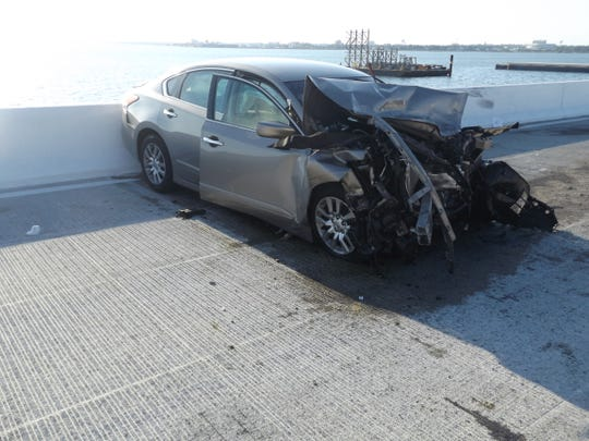 A head-on collision closed the Pensacola Bay Bridge for hours on Sunday, Sept. 29, 2019.