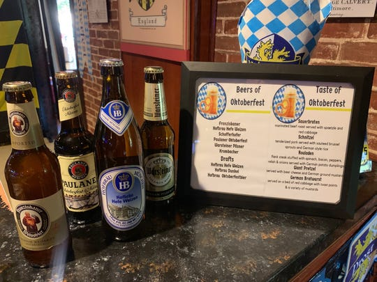 Calvert's in the Heights on East Cervantes Street will feature a Beers of Oktoberfest menu and Taste of Oktoberfest menu all day every day from Sept. 15 until Oct. 17.
