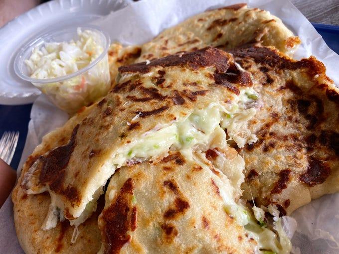 Pupusa chile verde con queso at Seydi's Pupuseria and Grill in Phoenix.